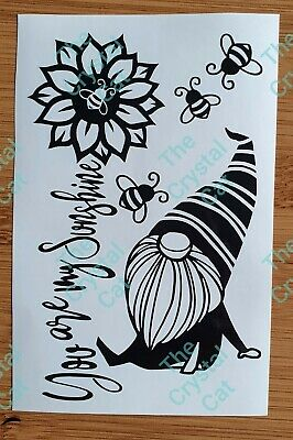 £1.80 • Buy You Are My Sunshine.. Tomte Gnome Bee Kind  Wine Bottle Vinyl Decal Sticker