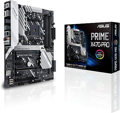 AU570.23 • Buy ASUS Motherboard PRIME X470-PRO Computer Parts Black AM4 AMD 2nd Gen. Ryzen New