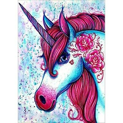 AU15.66 • Buy Diamond Painting Embroidery DIY Full Drill 5D Red Unicorn Gorgeous Stitch Kits
