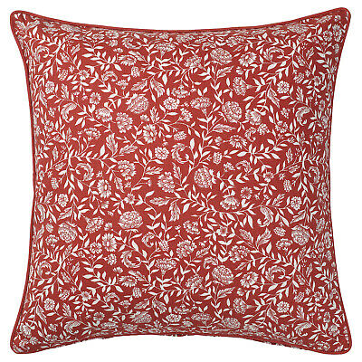 IKEA EVALOUISE Cushion Cover, Red/white/floral Patterned 50x50 Cm • 5.90£