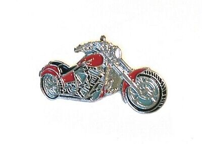 Motorbike Motorcycle Chopper Red Metal Enamel Pin Badge  • 2.49£