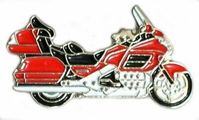 Motorbike Motorcycle Goldwing Red Metal Enamel Pin Badge  • 2.49£
