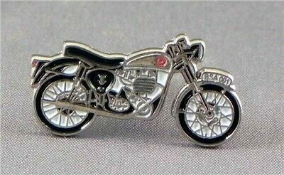 BSA Motorcycle Motorbike Black Metal Enamel Pin Badge  • 2.49£