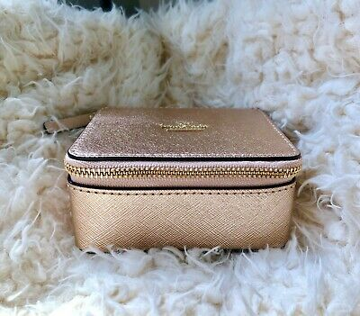 $ CDN74.48 • Buy NWT Kate Spade Rose Gold Ollie Leather Jewelry Box Travel Case Perfect 4 Travel