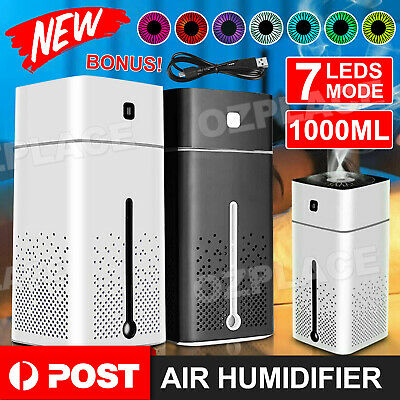 AU18.95 • Buy 1L Air Humidifier Ultrasonic Mist Ultrasonic Aroma Diffuser Purifier 7 Color LED