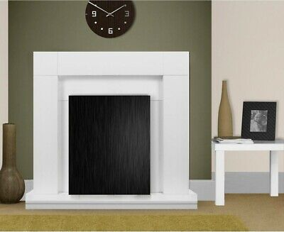 £159.99 • Buy Electric Fire White Wooden Fireplace Surround White Hearth And Back Panel Bnib
