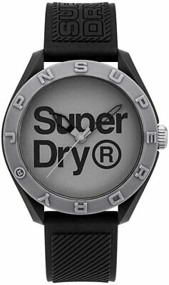 Superdry Mens Watch With Grey Dial And Black Strap SYG303E • 26.99£