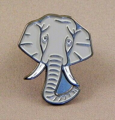Elephant Head Metal Enamel Pin Badge Wildlife Zoo Animal • 2.49£