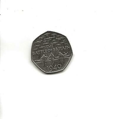 2015 Battle Of Britain 50p Fifty Pence Coin Circulated • 1.20£
