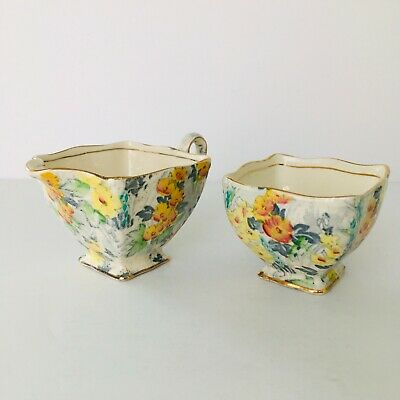 $ CDN64.19 • Buy Vintage Royal Winton Grimwades Floral Chintz Creamer And Open Sugar Bowl