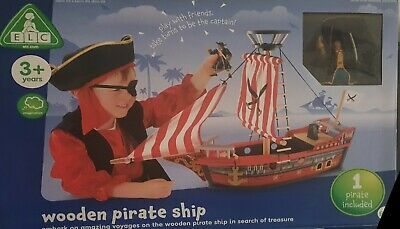 £29.99 • Buy ELC Wooden Pirate Ship Early Learning Centre Kids Boys Girls Toy Boat Playset