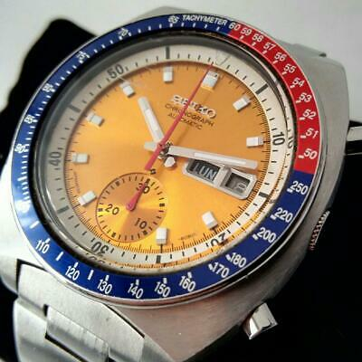 $ CDN1406.30 • Buy SEIKO Pogue Pepsi Bezel Automatic 6139-6002 Orange Dial Mens SS Watch Authentic