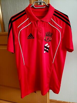 Adidas LIVERPOOL FC 2010 Football Men's Polo T-Shirt Size S/M Red • 15£