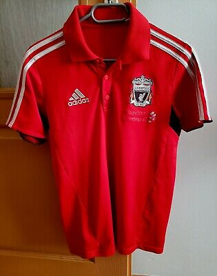 2011-12 Liverpool Adidas Polo Football T-Shirt S • 15£