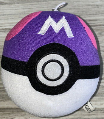 "Nintendo Pokemon MASTER BALL POKEBALL 5""Plush STUFFED ANIMAL Toy • 7.95£"