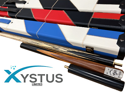 3/4 Handmade 57 - 63 Snooker Pool Cue 9.5mm Tip Cue With Blue/red/black Case • 42.74£