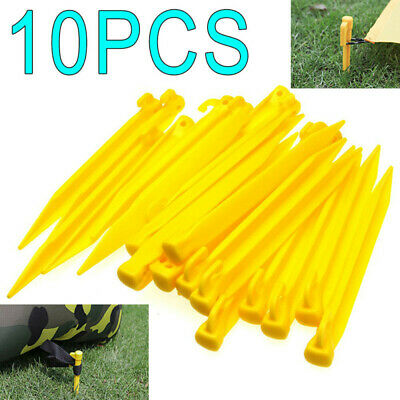 £3.09 • Buy 10X Plastic Tent Awning Pegs Nails Sand Ground Stakes Outdoor Camping New BE
