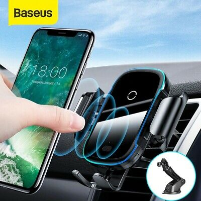 AU35.90 • Buy Baseus Qi Wireless Fast Charger Automatic Car Mount Phone Holder 15W Universal