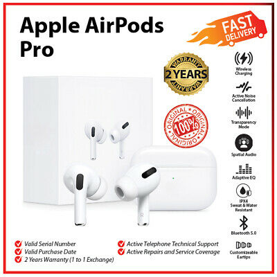 AU255 • Buy Apple Airpods Pro Active Noise Cancellation Wireless Bluetooth Earbuds Earphone