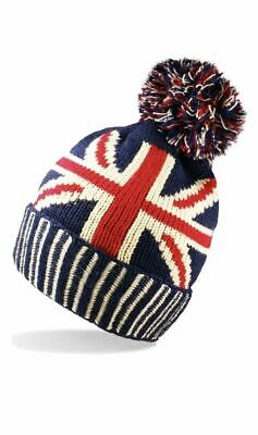 £4.25 • Buy Union Jack Mens /Ladies One Sized Winter Warm Ski Bobble Hat Winter Is Coming!