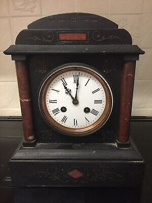 £65 • Buy Antique French Black Slate And Marble Mantle Clock Spares And Repairs