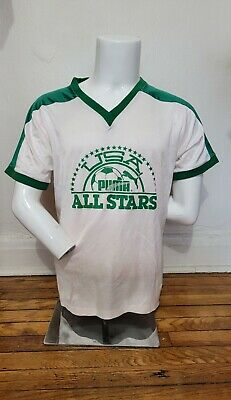 $ CDN30 • Buy Vintage 70/80s Peter Green L Puma USA Allstars Ringer T Shirt NASL MISL
