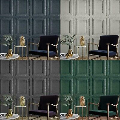 £13.99 • Buy Wood Panel Panelling Feature Paste The Wall 3d Textured Vinyl Wallpaper Quality