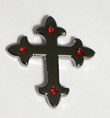 Gothic Black Cross Metal Enamel Pin Badge  • 2.49£
