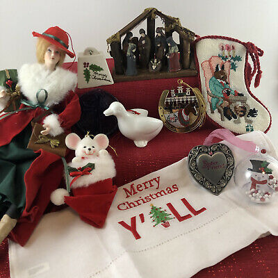 $ CDN20.08 • Buy Lot Of Assorted Christmas Ornaments-Vintage To Now-Misc Holiday Decorations Lot2