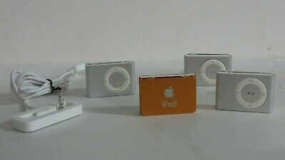 £21.58 • Buy (4) Apple MB225LL/A 1GB 2nd Generation IPod Shuffles And 1 Dock Need Batteries