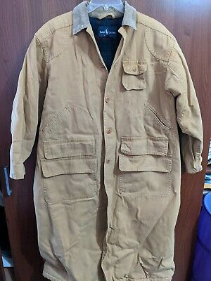 $599 • Buy Mens Ralph Lauren Polo Duster Coat Jacket L Large Made In USA Lined Tan
