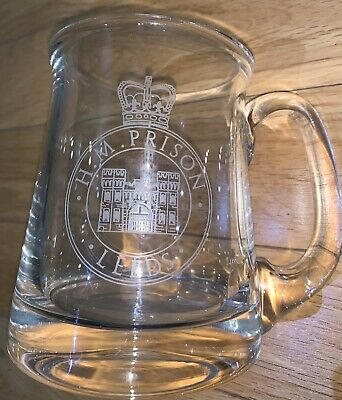HMP ARMLEY, LEEDS,Officers 1 Pint Glass, Commemorative Service, GENUINE ITEM ! • 15£