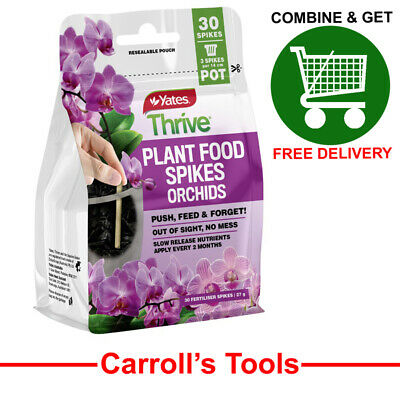 AU7.58 • Buy Yates Thrive Plant Food Spikes Orchids 27g  - 30 Spikes