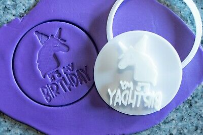AU8.95 • Buy It's My Birthday Unicorn, Cookie, Fondant Cutter And Embosser, 3D Printed