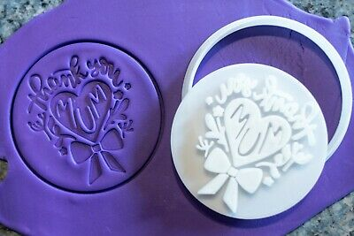 AU8.95 • Buy Thank You Mum, Mother's Day Cookie, Fondant Cutter And Embosser, 3D Printed