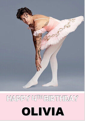 £3.98 • Buy Harry Styles Ballerina Outfit Birthday Card A5 Personalised Own Words