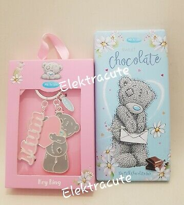 £8.75 • Buy Me To You Tatty Ted Bear Mum Pink Heart Keyring Boxed Gift With Chocolate 30g