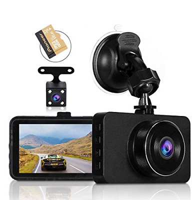 AU62.52 • Buy Dash Cams For Cars Front And Rear Full HD Night Vision 1080P Car Dash Camera, SD