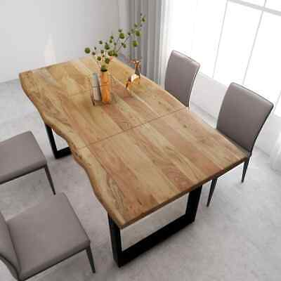 £396.99 • Buy VidaXL Solid Acacia Wood Dining Table 180x90x76cm Eat Stand Tree Trunk Unit