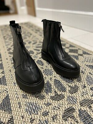 £50 • Buy Office Chunky Flatform Leather Boots