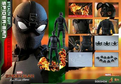 $ CDN356.71 • Buy Hot Toys Spider-Man Stealth Suit Deluxe 1/6 Scale Figure Far From Home