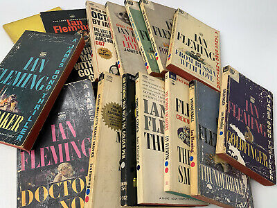$67.49 • Buy Lot Of 15 Vintage Ian Fleming  James Bond 007 Pb's  Signet Dell Paperback