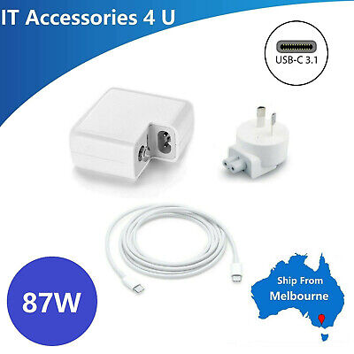 AU15 • Buy 87W Power Adapter Charger For Macbook 15  USB-C Type C Cable Power Supply