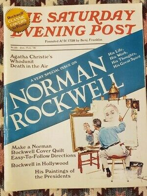 $ CDN5.02 • Buy The Saturday Evening Post - Jan/Feb 1978 - Special Issue On Norman Rockwell