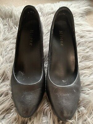 AU70 • Buy ZIERA LADIES ForBLACK LEATHER SHOES SIZE 40/9 Heels