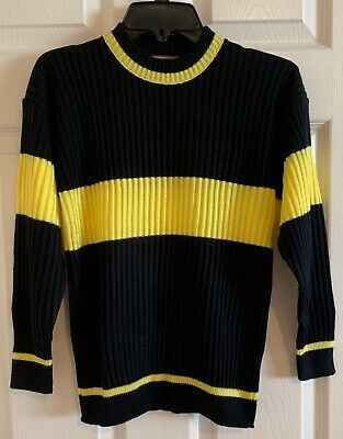 $ CDN15.76 • Buy Harry Potter Hufflepuff Quidditch Gaming  Sweater Yellow Black  Youth Size