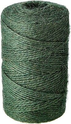 £4.89 • Buy Green Garden Twine String Jute Reel Ball Plant Natural Support Rope Tie Back