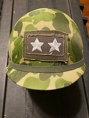 $250 • Buy US ARMY M1C PARATROOPER AIRBORNE HELMET With Embroidered Major General Rank