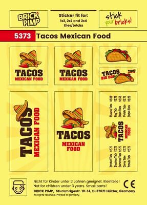 $ CDN2.25 • Buy 💚 Tacos Mexican Food 💚 STICKER 💚 Fit For LEGO® Tiles, Bricks, Plates / 5373