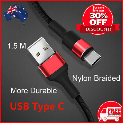 AU4.45 • Buy USB Type C Charging Cable Quick For Samsung Huawei Xiaomi Charger Data Cable